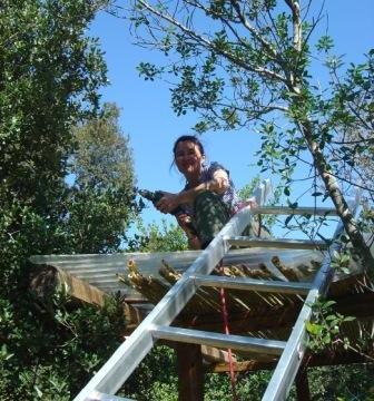 arbeit am dach sehrklein