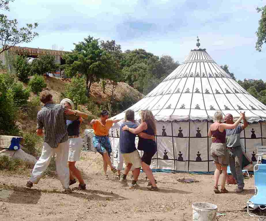 Cala Jami Inayati Sufi camp Sardinia 2005 first event ever