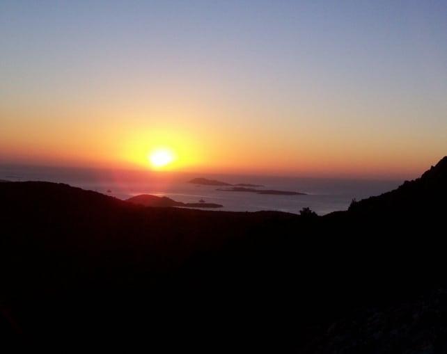 Sufi Earth Spirit, panorama morning meditation, nearby Cala Jami