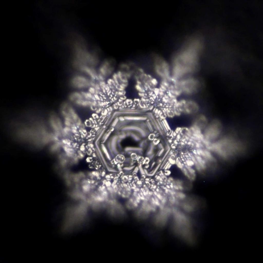 Botschaften von Stille und Schönheit im Wasserkristall