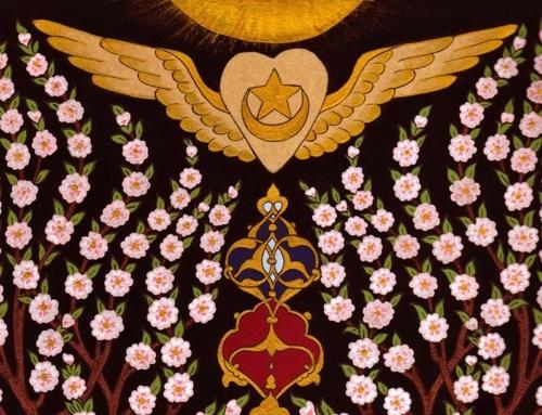 Sufi Inayati heart with wings