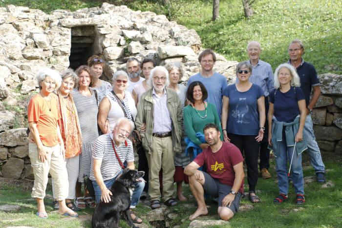 GruUnsere Gruppe mit Walter Amin Häge, Cala Jami, Sardinienppe Walter Amin Häge auf Sardinien