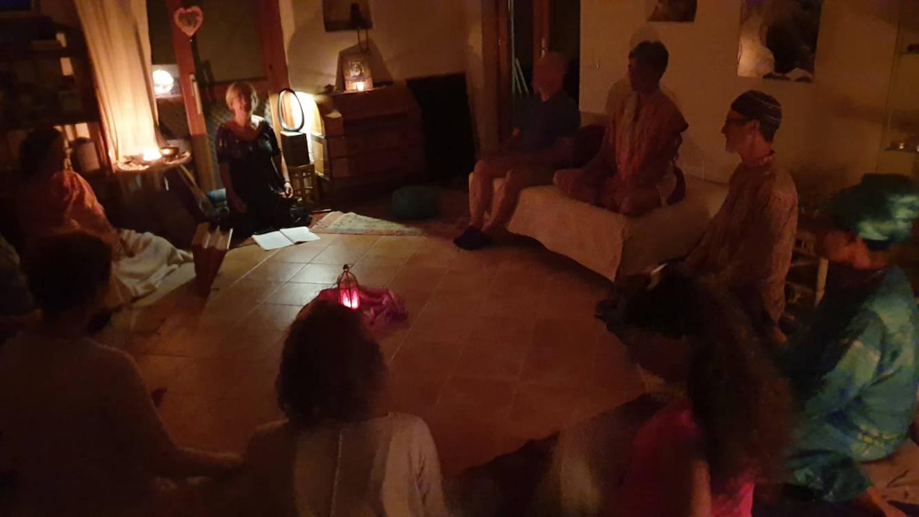 Cala Jami meditation gathering