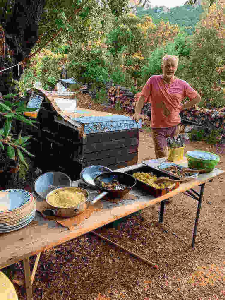 Lunch time Cala Jami Sufi Earth Spirit Sardinia