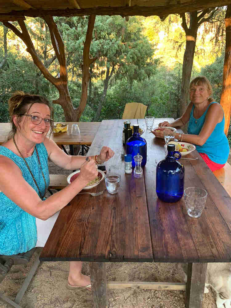 in the new tea lounge - Sufi meditation center Sardinia